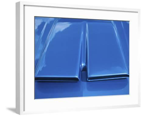 Close-up on Muscle Car Vent--Framed Art Print
