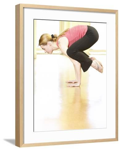 Woman Doing Yoga--Framed Art Print