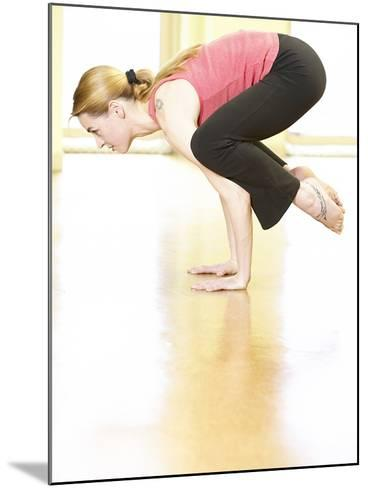 Woman Doing Yoga--Mounted Photographic Print