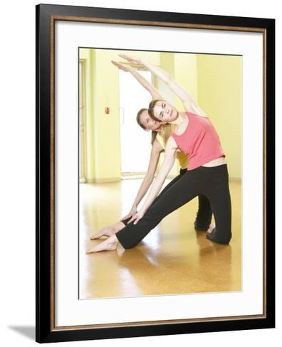 Women Doing Yoga--Framed Art Print