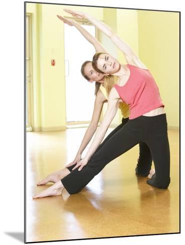 Women Doing Yoga--Mounted Photographic Print