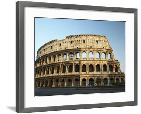Ruins of the Coliseum in Rome Against Blue Sky--Framed Art Print