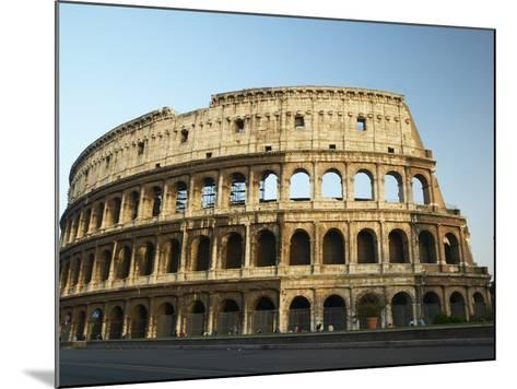 Ruins of the Coliseum in Rome Against Blue Sky--Mounted Photographic Print