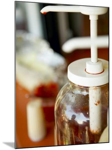 Bottle of Red Ketchup--Mounted Photographic Print