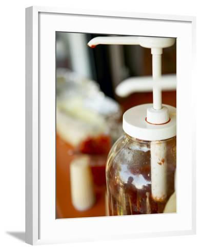 Bottle of Red Ketchup--Framed Art Print