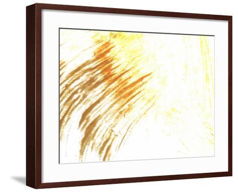 Brush Strokes in Vibrant Paint--Framed Art Print