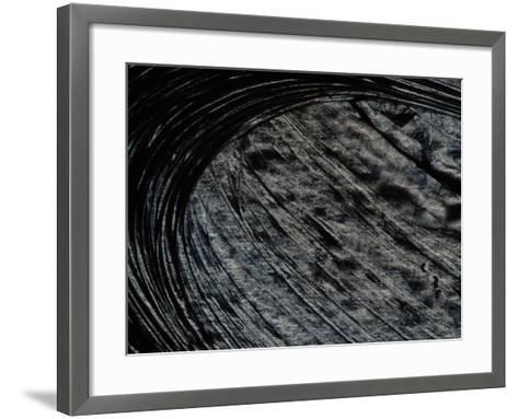 Brush Strokes in Gray Paint--Framed Art Print