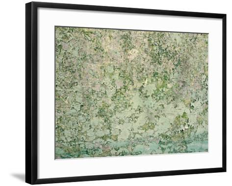 Close-Up of Textured Turquoise Wall--Framed Art Print