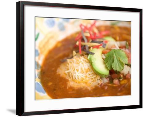 Elegant Presentation of Bowl of Soup--Framed Art Print