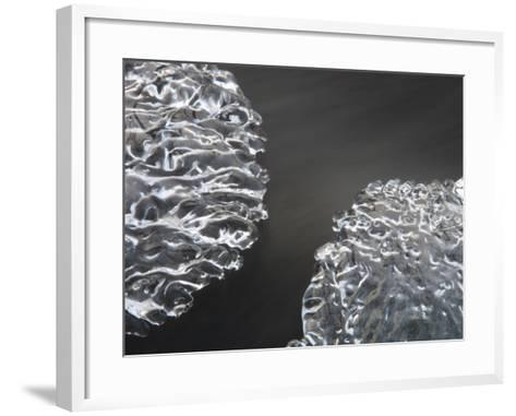 Close-Up of Texture from Frozen Surface of Ice--Framed Art Print