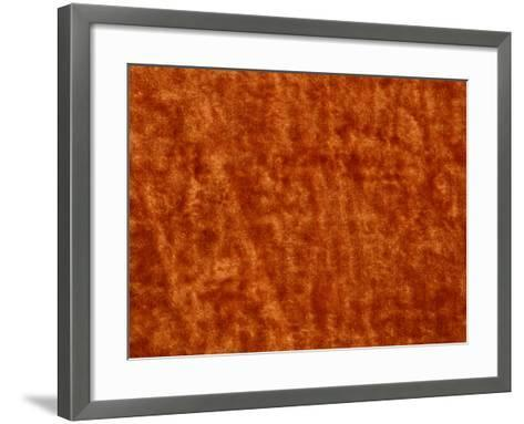 Burnt Orange Colored Surface Covered with Mottled and Blotchy Pattern--Framed Art Print
