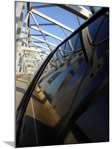 Close-Up of Reflection of Bridge on Smooth Car Window--Mounted Photographic Print