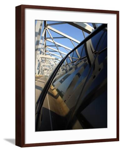 Close-Up of Reflection of Bridge on Smooth Car Window--Framed Art Print