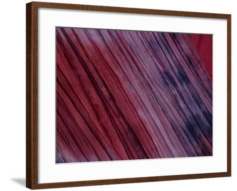 Close-Up of Multicolored Fabric with Purple and Pink in New Orleans, Lousiana--Framed Art Print