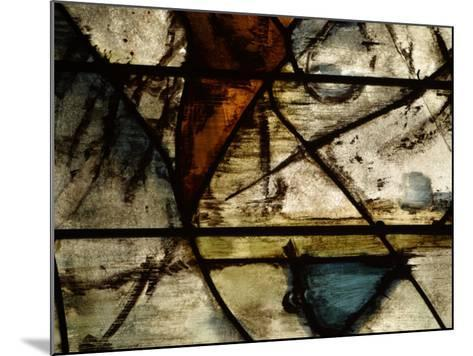 Close-Up of Abstract Pattern in Stained Glass--Mounted Photographic Print