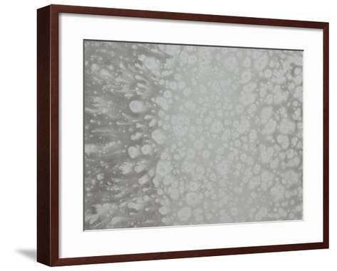 Abstract Splatter Pattern in Gray--Framed Art Print