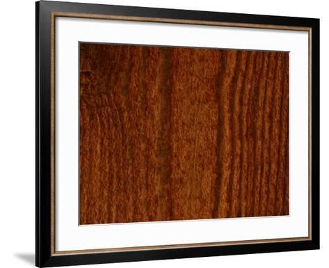 Close-Up of Vertical Woodgrain Pattern--Framed Art Print