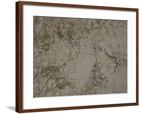 Abstract Billowing Pattern in Gray--Framed Art Print