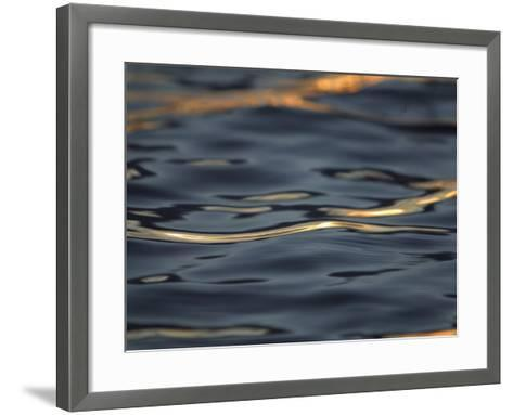 Rippling Water Glinting Light in a Reflection--Framed Art Print