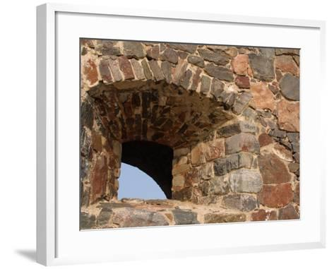 Multicolored Stones Creating an Intricate Wall and Structure in Helsinki, Finland--Framed Art Print