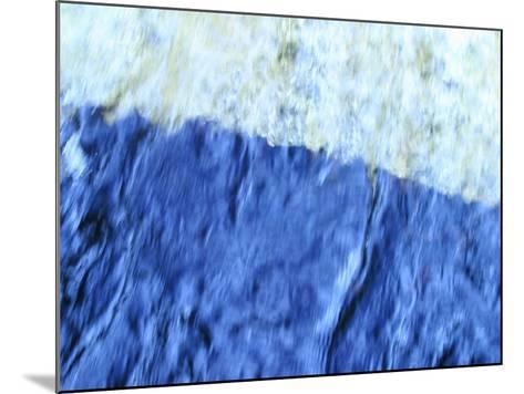 Soft Focused Shaded Blues Textured Background--Mounted Photographic Print