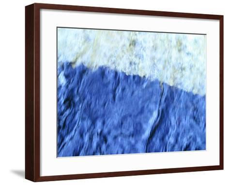 Soft Focused Shaded Blues Textured Background--Framed Art Print