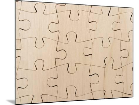 Completed Puzzle Pieces Textured Background--Mounted Photographic Print