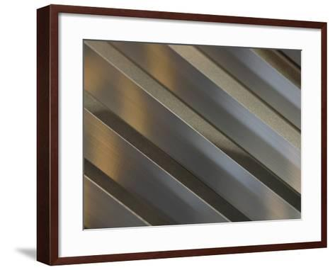 Shiny Corrugated Metal--Framed Art Print