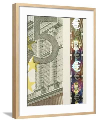 Detail of a Traditional Five Euro Banknote--Framed Art Print