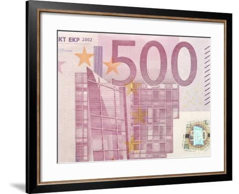 Detail of a Traditional Five Hundred Euro Banknote--Framed Art Print