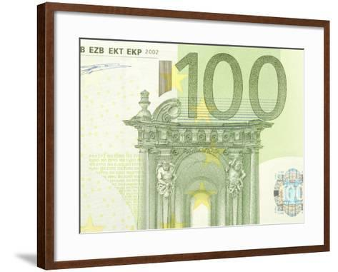 Detail of a Traditional One Hundred Euro Banknote--Framed Art Print