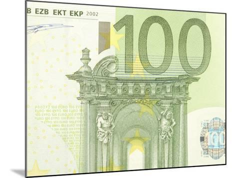Detail of a Traditional One Hundred Euro Banknote--Mounted Photographic Print