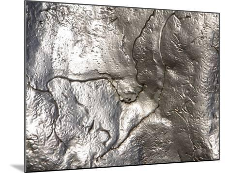 Texture of Shiny Metal Surface--Mounted Photographic Print
