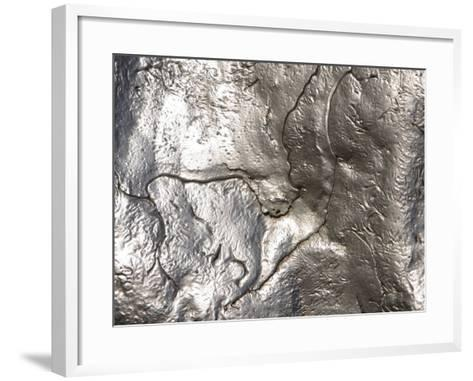 Texture of Shiny Metal Surface--Framed Art Print