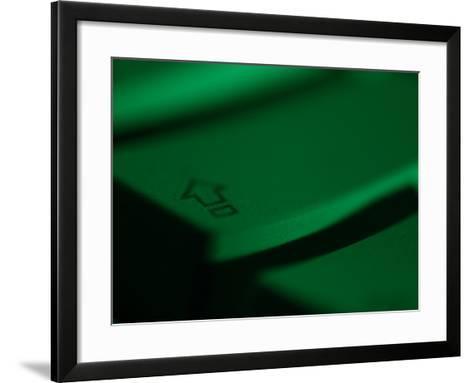 Green Tinted Return Button on a Computer Keyboard--Framed Art Print