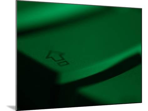 Green Tinted Return Button on a Computer Keyboard--Mounted Photographic Print