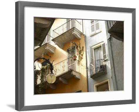 Building Balcony with Green Creeping Vines--Framed Art Print