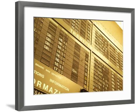 Electronic Italian Train Schedule--Framed Art Print