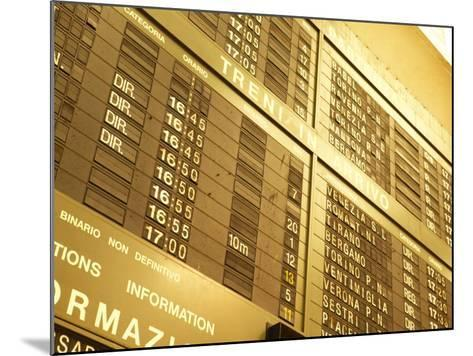 Electronic Italian Train Schedule--Mounted Photographic Print
