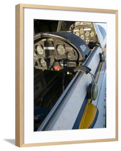 Close-Up of Airplane Cockpit--Framed Art Print