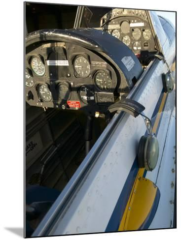 Close-Up of Airplane Cockpit--Mounted Photographic Print