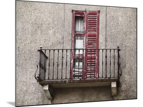 Weathered Shutters to Rusted Balcony of Old Building--Mounted Photographic Print