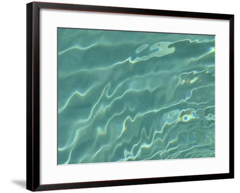 Close-Up of Rippling Clear Water--Framed Art Print