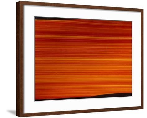 Striated Orange Background--Framed Art Print
