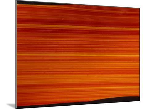 Striated Orange Background--Mounted Photographic Print