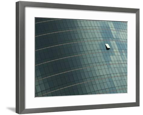 Open Window on the Side of a Modern Glass Building, Asia--Framed Art Print