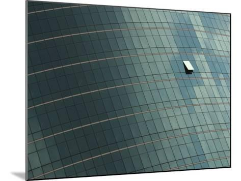 Open Window on the Side of a Modern Glass Building, Asia--Mounted Photographic Print