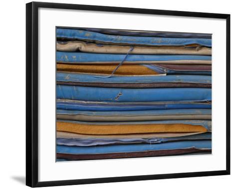 Stack of Tattered Cushions--Framed Art Print