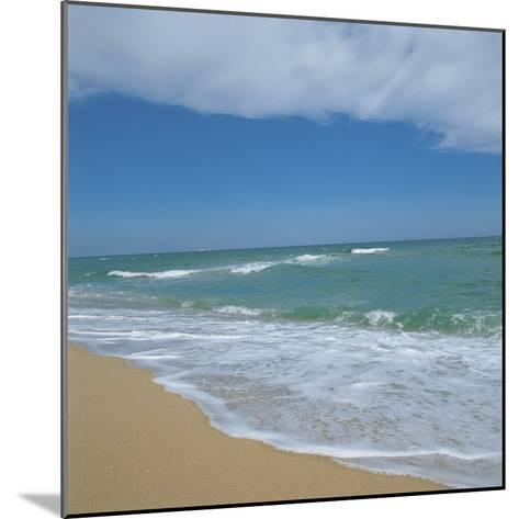 Waves Lapping Up onto Sandy Beach--Mounted Photographic Print