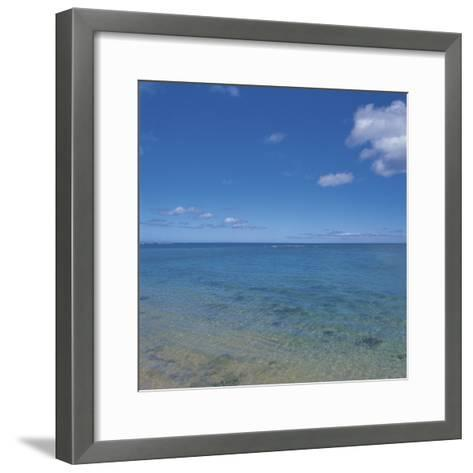 Beautiful and Peaceful View of the Sea--Framed Art Print
